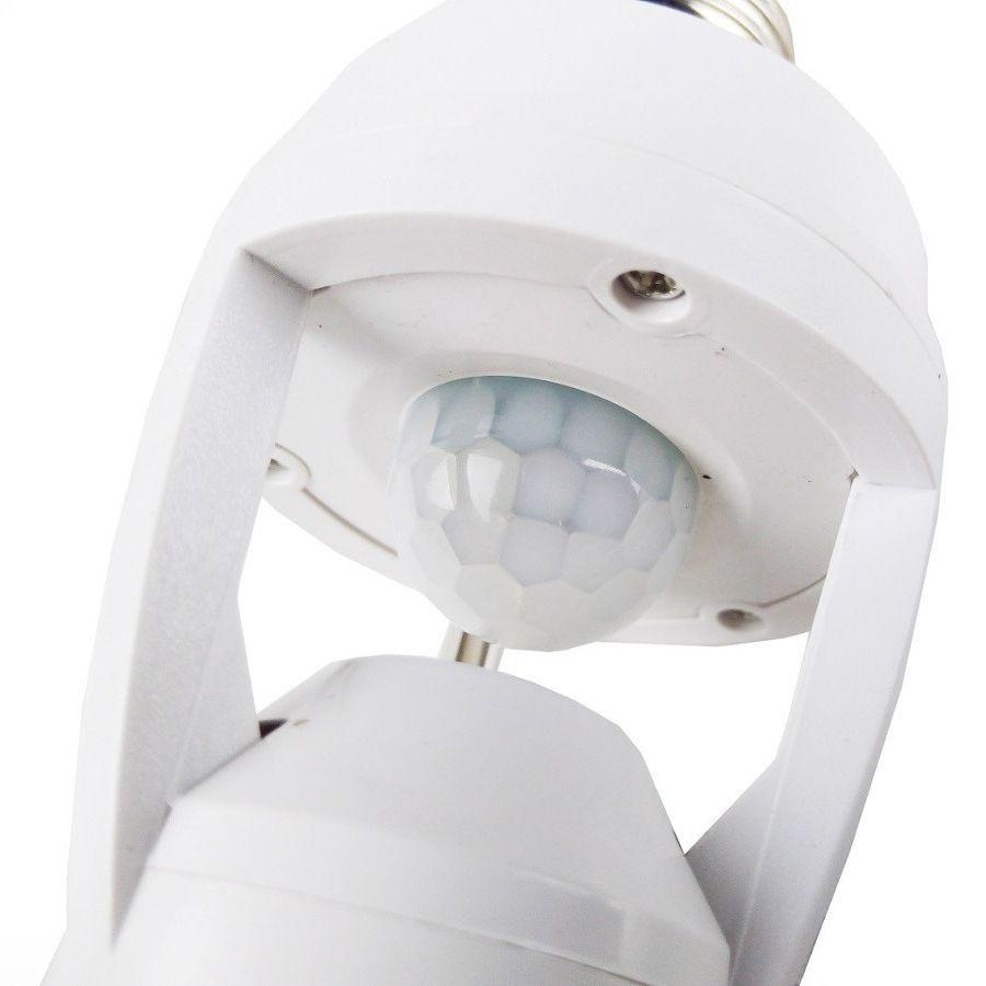 Adaptador Lampada Sensor De Presença Infravermelho Luz Segurança Economia Energia