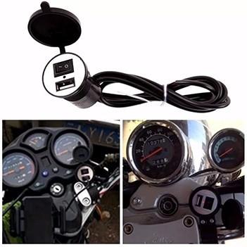 Adaptador Usb 5v Para Moto Motocicleta  Para Carregamento Celular Gps (BSL-45765-4)
