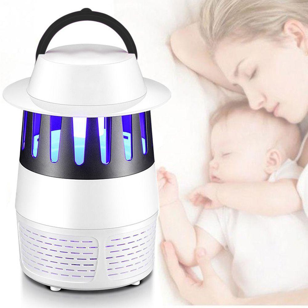 Armadilha Mosquito Repelente Mata Moscas Eletrico Luz LED UV Zika Dengue