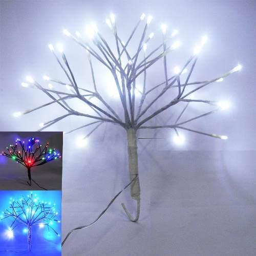 Arvore Abaju Bola De Natal 48 Leds Luminaria Cores Decoracao (PW301/PW302/PW303)