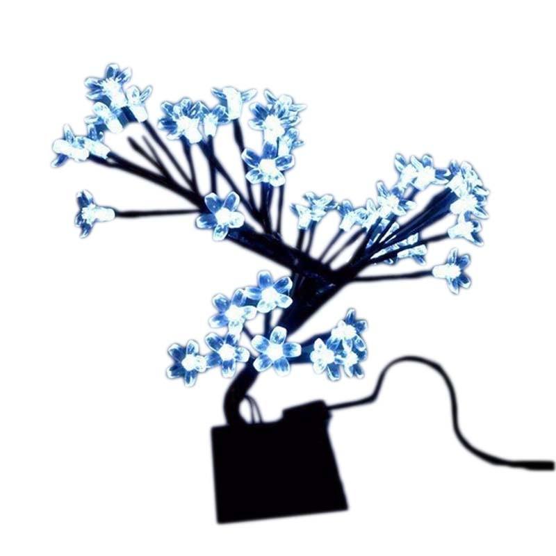 Arvore Abajur 60 Led Decoracao Luminaria Natal Cerejeira 8 Funcoes Pisca 45cm Azul (NTD4560A127V)