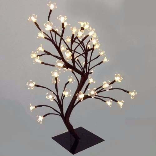 Arvore Abajur 60 Led Luminaria Natal Cerejeira Enfeite Amarelo Branco Quente Pisca Pisca (NTD4560Q127V)