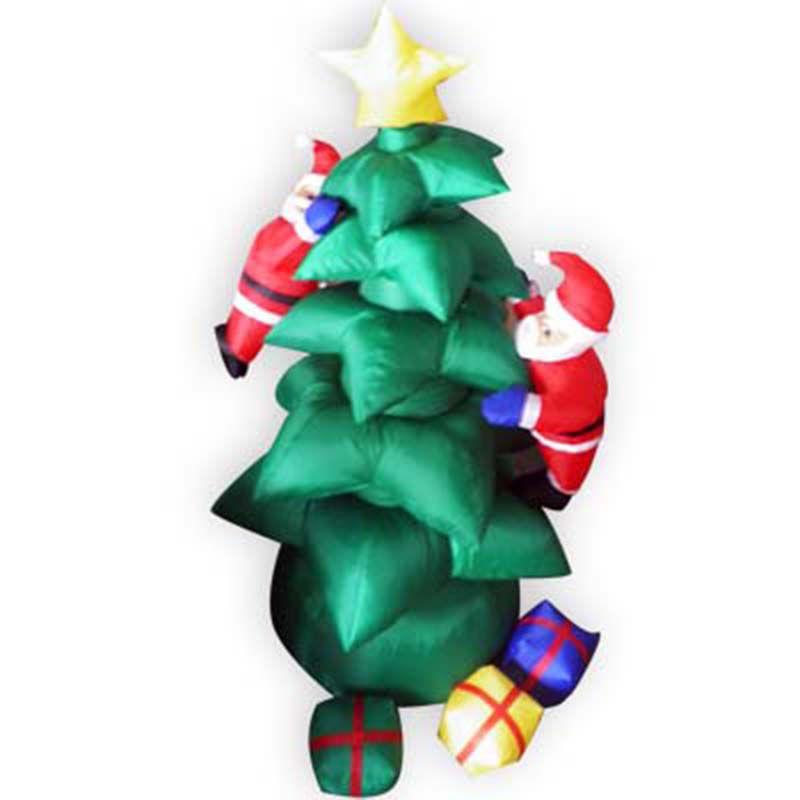 Arvore de Natal inflavel Enfeite com Papai Noel Decoracao Natalino 1 metro e 80 cm 110v