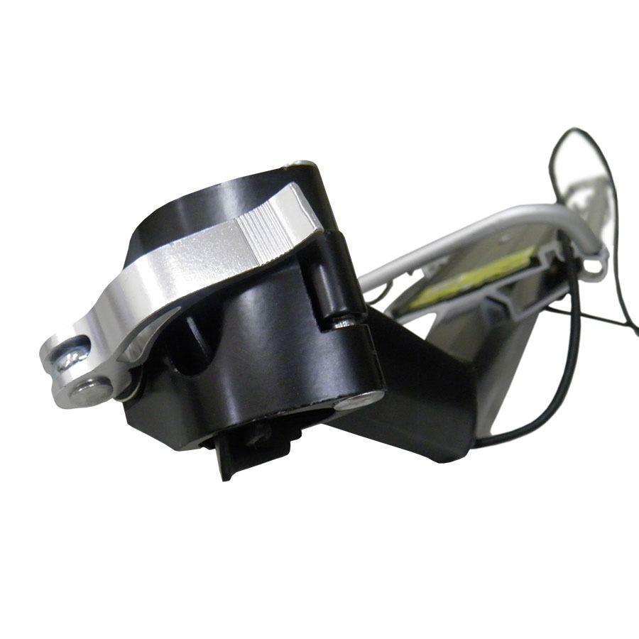 Bagageiro Garupa Universal em Alumínio para Canote com Sinalizador (5968)