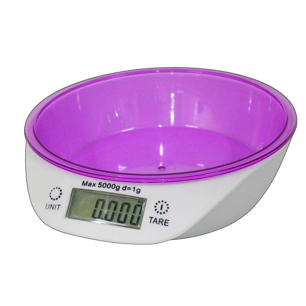 Balança Digital Peso 1g Ate 5kg Mede Kilos Volume Ml Gramas Precisao