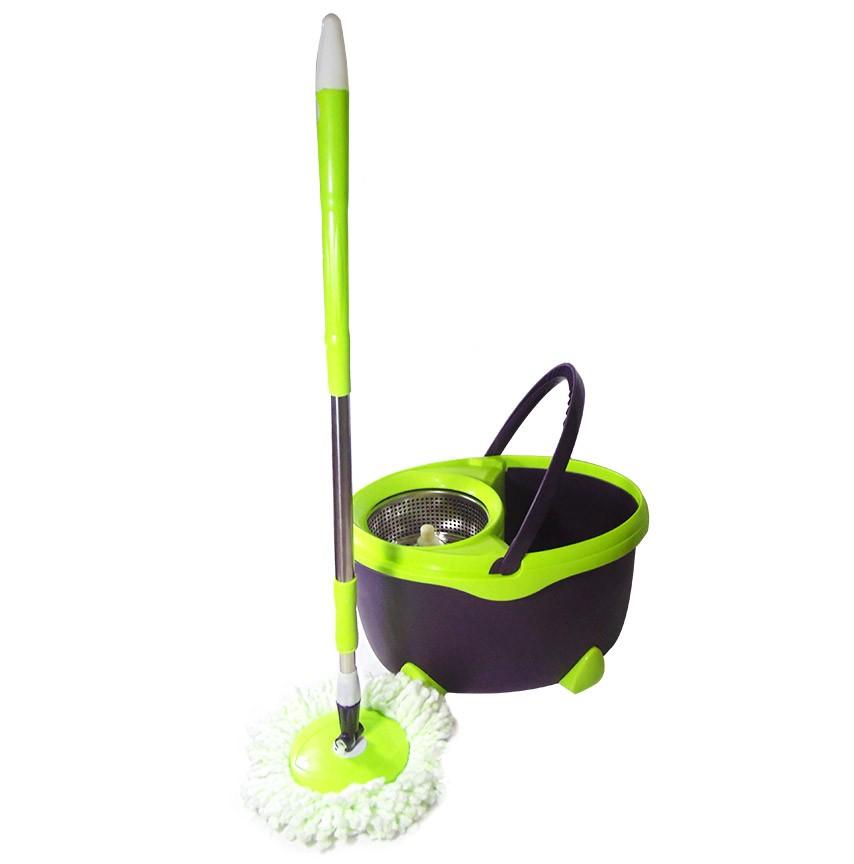 Balde Esfregao De Limpeza Mop Inox Grande Verde 16L Resistente Com 1 Refil (bsl-mop-6)