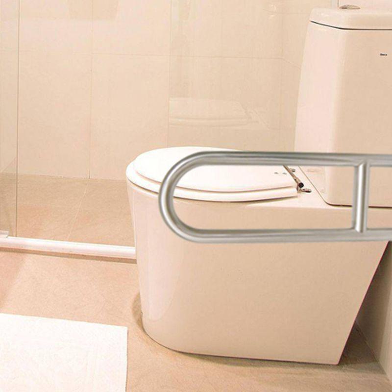 Barra de Apoio Articulada Cadeirante Idoso Banheiro Inox Lateral Acessibilidade Segurança