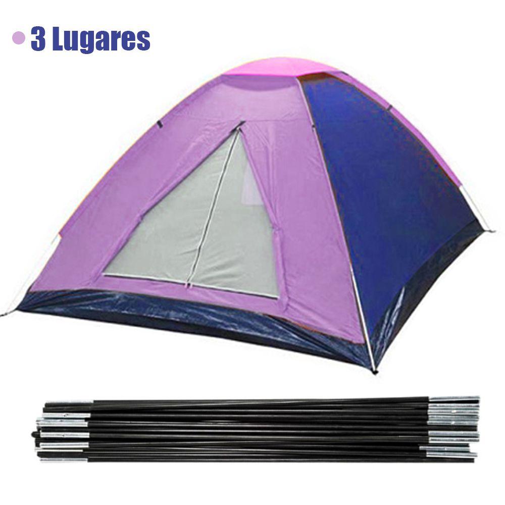 Barraca Acampamento 3 Lugares Ferias Colorida Camping Viagem Iglu