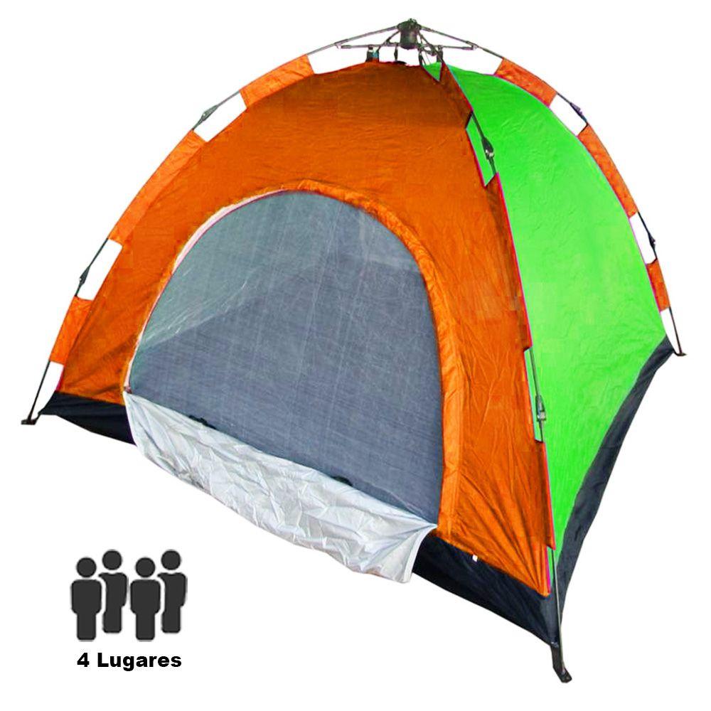 Barraca Automatica 4 Pessoas Camping Colorida Monta Sozinha Acampar Iglu Aventura