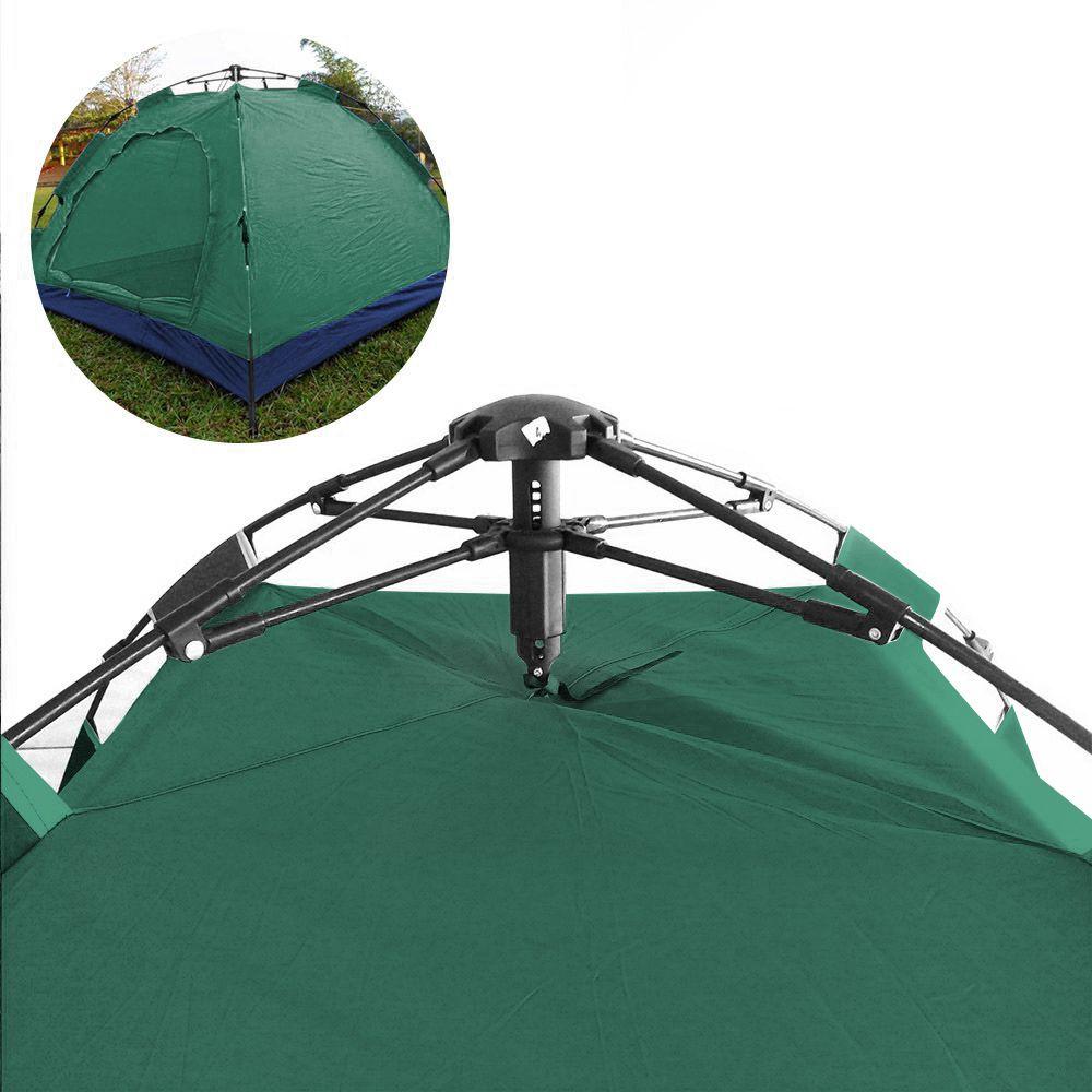 Barraca Monta Sozinha Automatica 4 Lugares Acampar Camping Verde e Azul