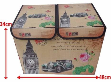Bau Porta Treco Dobravel Para Guardar Volumes Vintage Retro Big Ben (pf-16)