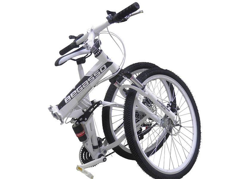 Bicicleta Dobravel Branco 21 Marchas Aro 26 Freio Disco (BSL-BIC-1)