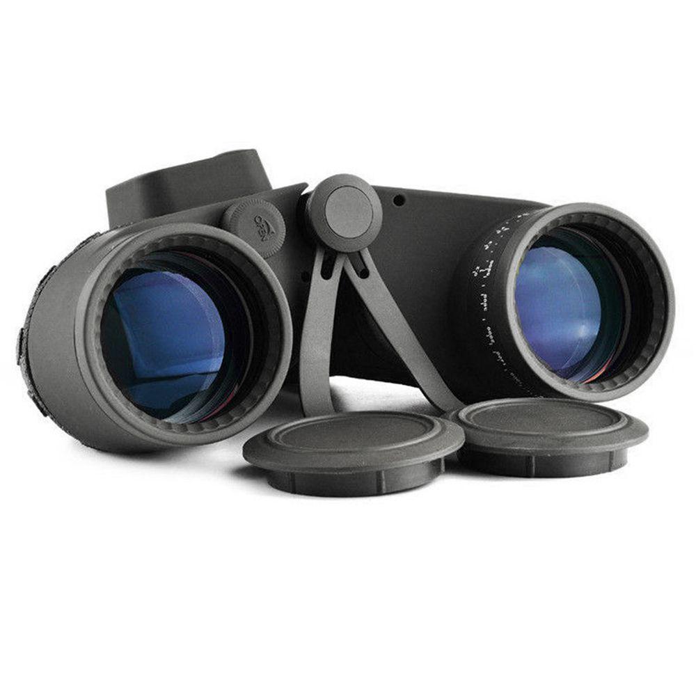 Binóculo Telêmetro 10x50 HD À Prova D 'Água Bússola Caça  Zoom Ocular Telescópio Preto