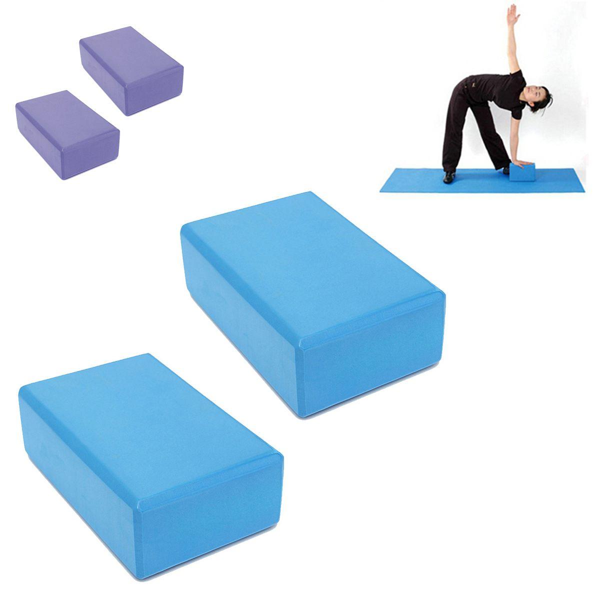Blocos Pilates Yoga Eva Fitness Kit 2 Exercicio Ginastica Treinamento