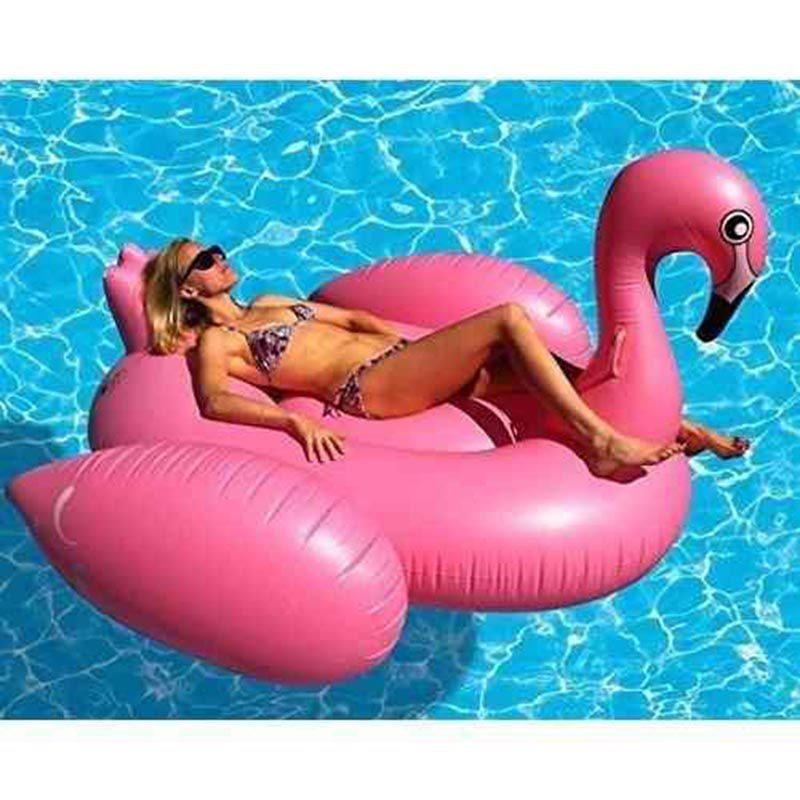 Boia Flutuante Inflavel Flamingo Gigante 3.5m Praia Piscina
