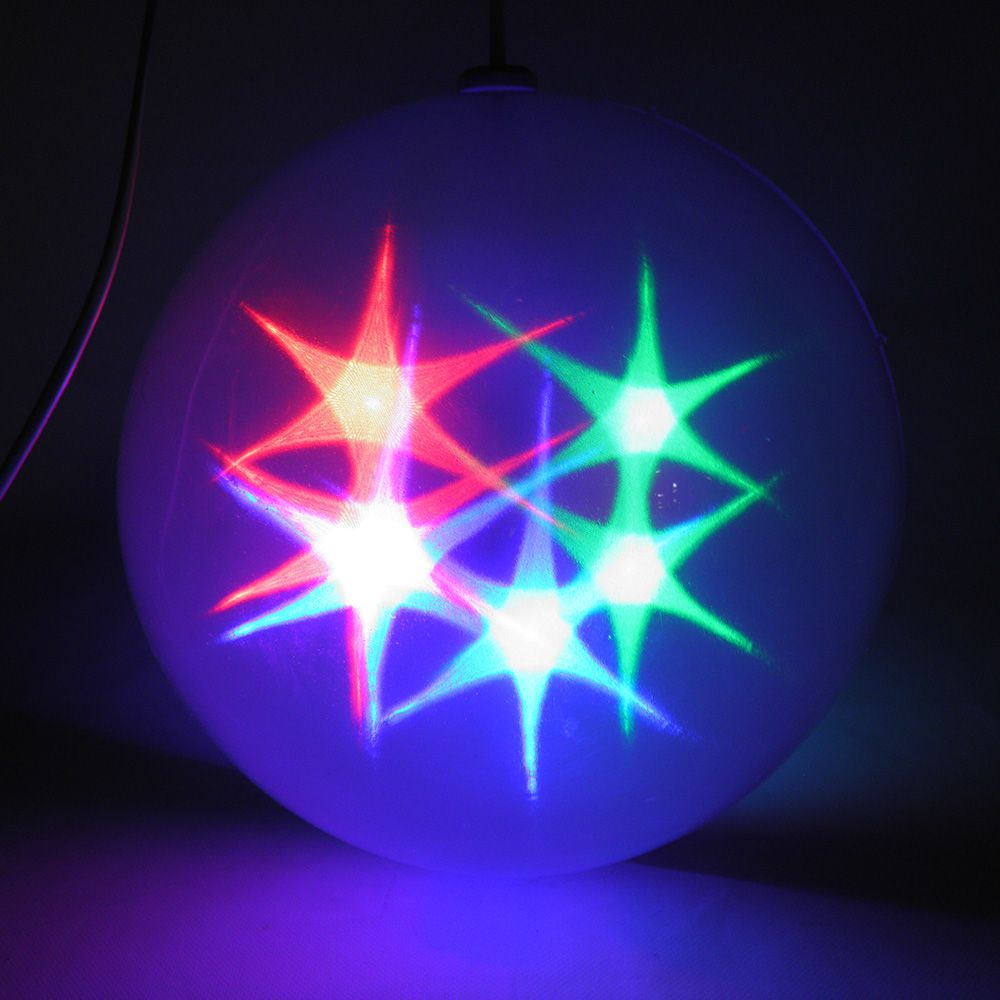 Bola De Natal Natalino Com Led RGB Pisca Pisca Enfeite Bivolt