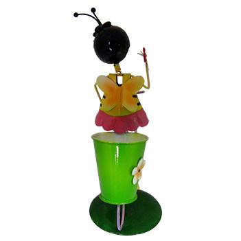 Boneca Abelha com Bicicleta Para Enfeite e Decoraçao Jardim e Flores (BON-M-15)