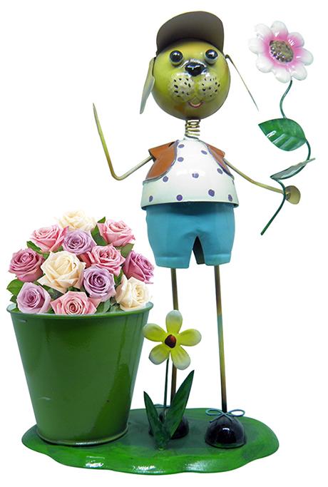 Boneco De Ferro Para Enfeite e Decoraçao Jardim e Flores (BON-M-19) MENINO