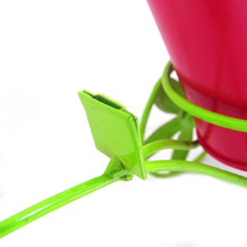 Boneca de Flor com Bicicleta Para Enfeite e Decoraçao Jardim e Flores Vaso Rosa (BON-P-11)