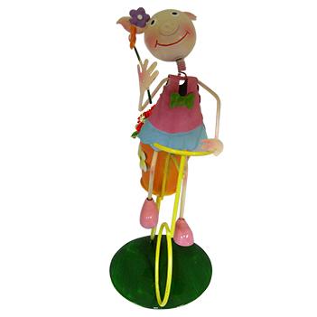 Boneca Porquinha com Bicicleta Para Enfeite e Decoraçao Jardim e Flores (BON-M-15)