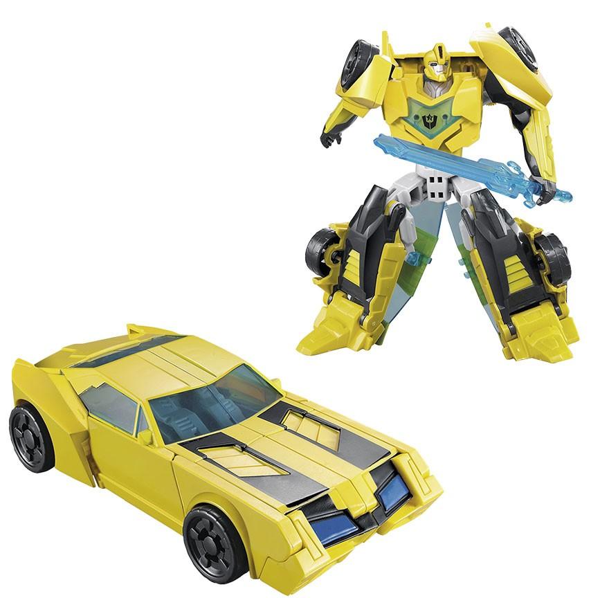 Boneco Articulado Brinquedo Transforme Robo Em Carro Action Figure Amarelo (DMT4693)