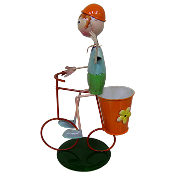Boneco com Bicicleta Para Enfeite e Decoraçao Jardim e Flores (BON-M-13)