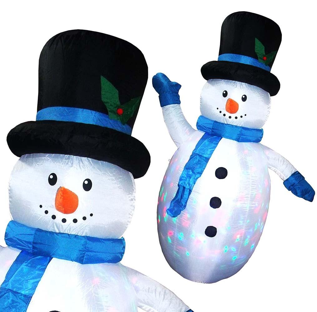 Boneco de Neve Inflavel Natal Com Led Colorido Grande 2m Para Decoracao Natalina Enfeite (bsl-36041-16 neve)