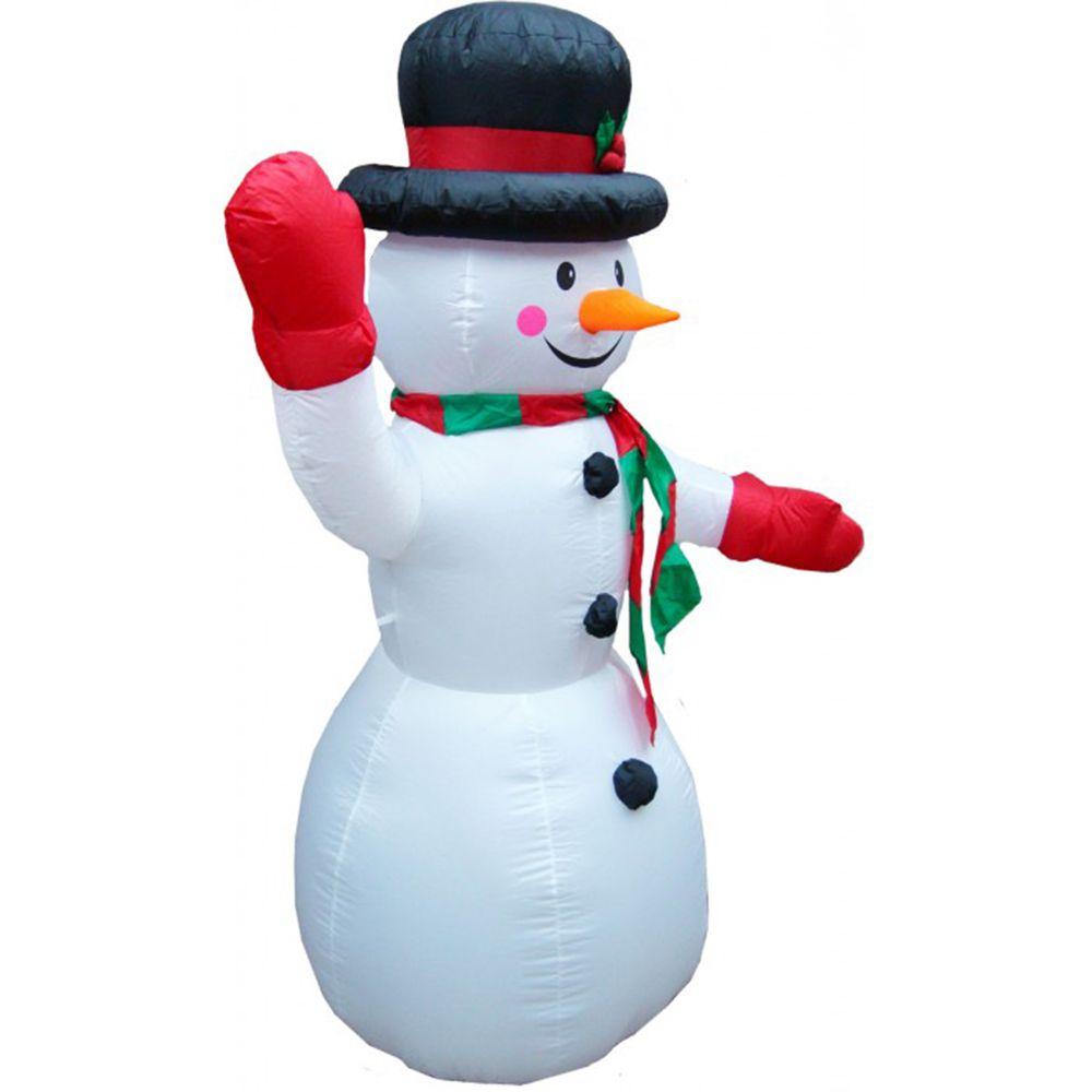 Boneco de Neve Natalino Natal Inflavel Enfeite 1 metros e 80 cm