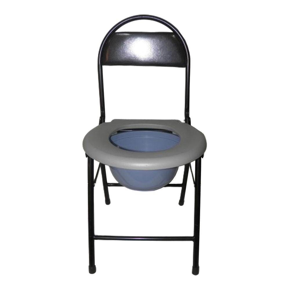 Cadeira De Banheiro Cadeirante Idoso Deficiente Vaso Aço Dobravel