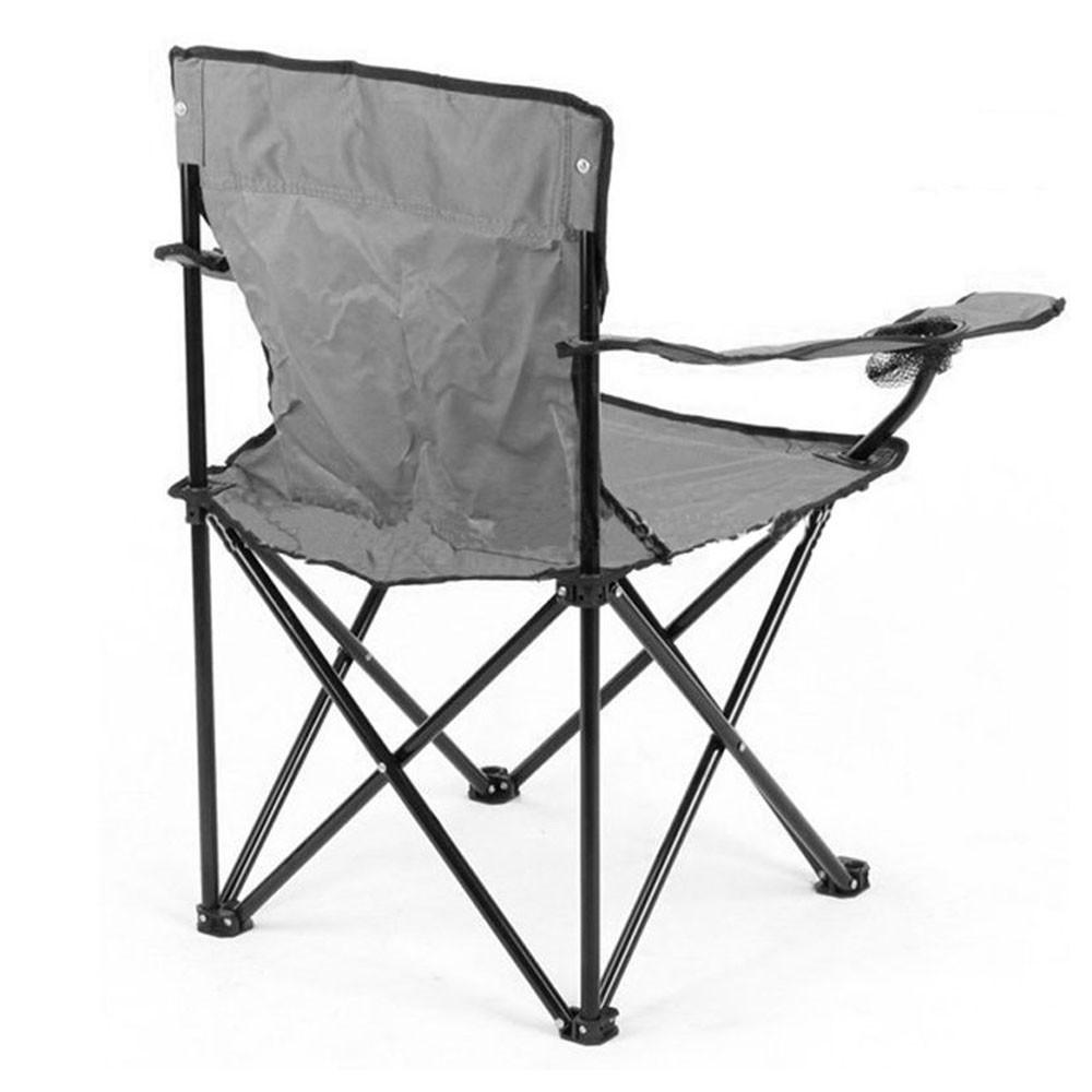 Cadeira Dobravel Braço Porta Copo Praia e Camping Pescaria Com Bolsa de Transporte