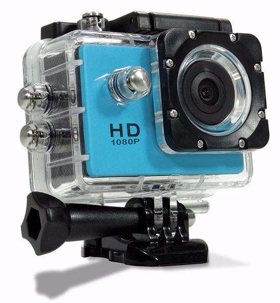 Camera 12 Mp 4K Filmadora Ultra Hd Bike Trilha Foto Video Azul Prova D agua Moto