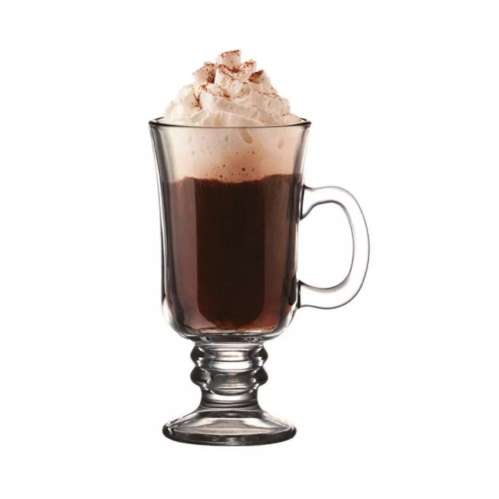 Caneca Vidro 240ml Capuccino Milkshake Cha Chocolate Cafe Bebida