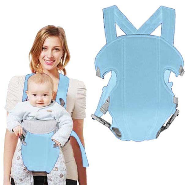 Canguru Carregador de Bebe Para Crianças Transporte Baby Bag Cor Azul Claro (MC40524)