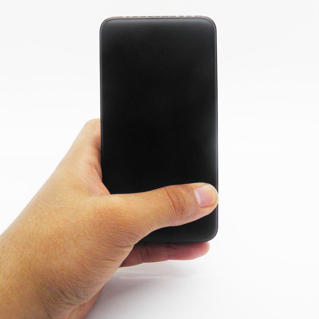 Carregador Portatil 20000 mah Usb Micro USB Tipo C Bateria Celular Preto
