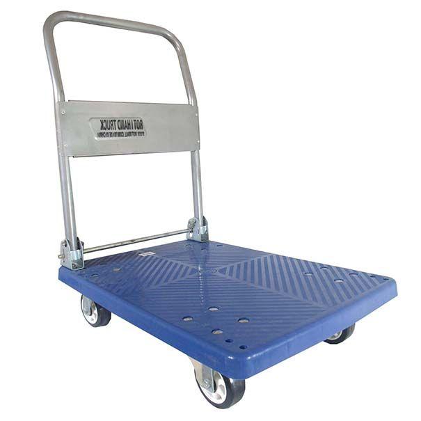 Carrinho de Carga Plataforma Aba Dobravel Ate 150kg  Estoque Azul (carea-plat)(807)