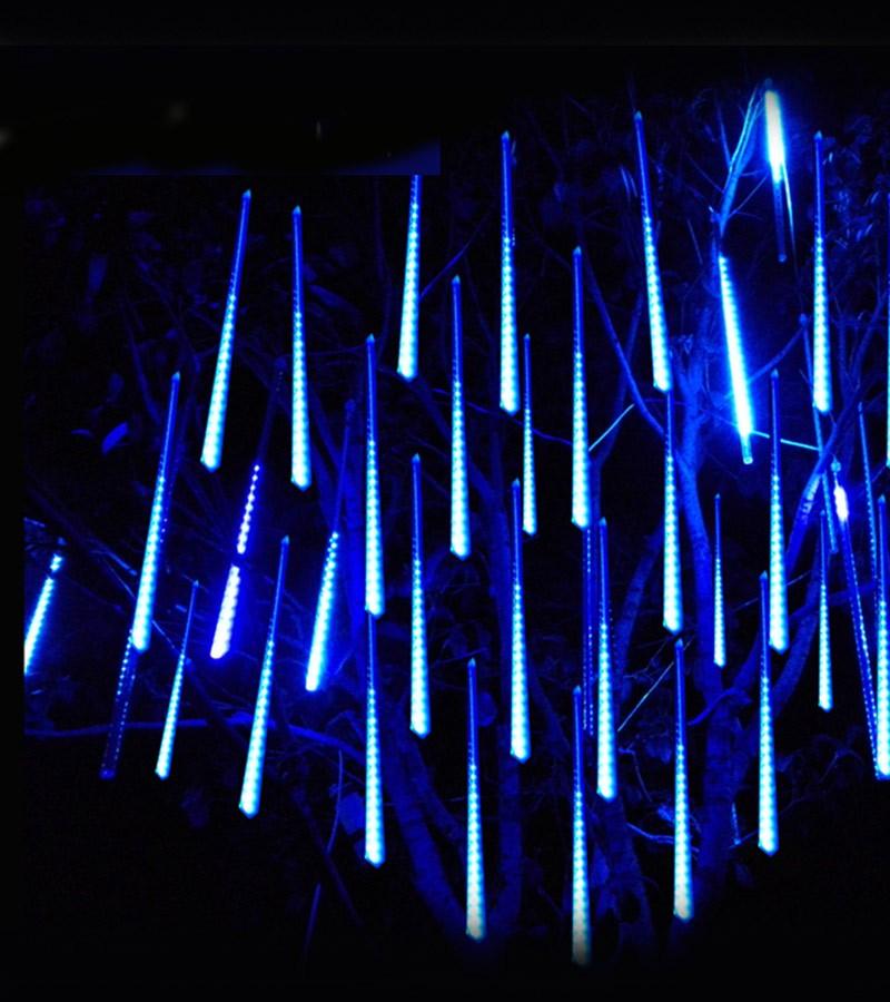 Cascata Chuva de Gelo 8 Tubos 96 LEDs SnowFall Pisca Pisca Natal Azul (NTN2128X127V)