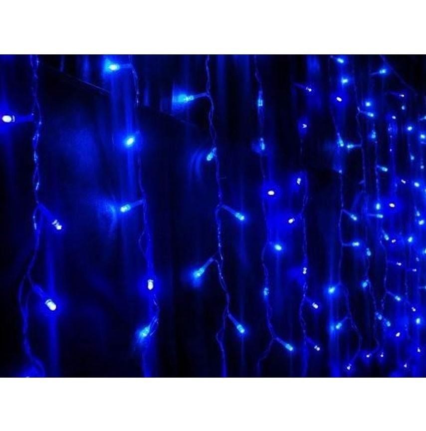 Cascata Pisca Pisca de Natal 100 Leds Azul Decoração Natalina (JA-81104 Azul)