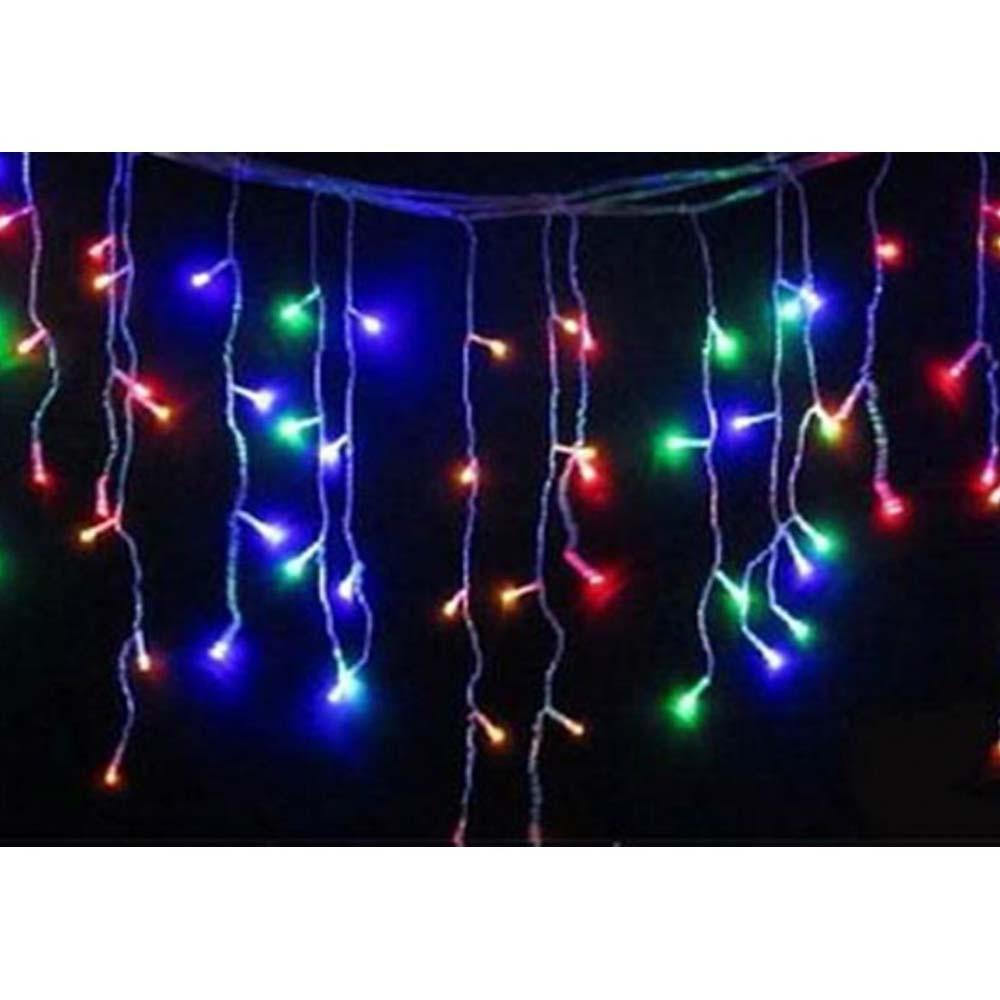 Cascata Pisca Pisca de Natal 100 Leds Decoração Natalina Colorido (JA-81104 color)