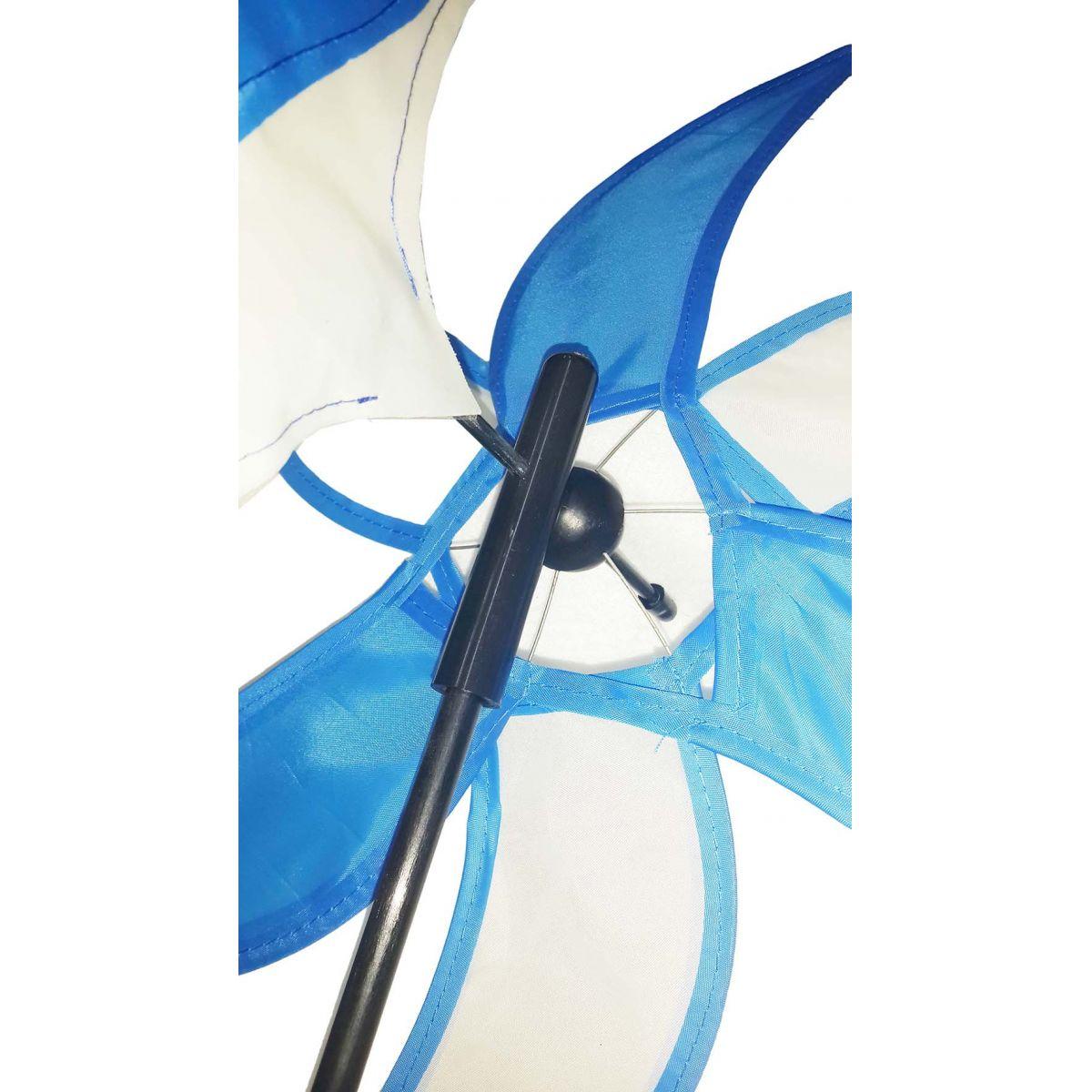 Catavento Modelo Peixe Azul Jardim Casa Piscina Decoração Criança 40cm (CATA-8)