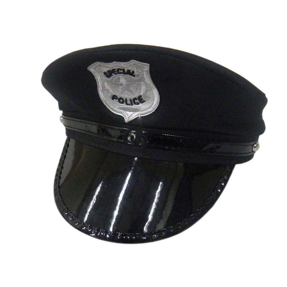 Chapéu Quepe Policial Carnaval Fantasia Aniversário Boné