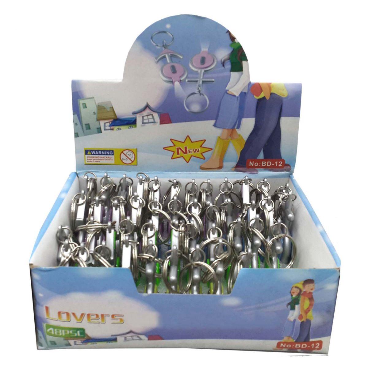 Chaveiro Love Brinde Prenda Cores Sortidas Kit Com 48 Unid (BL-1503-16)