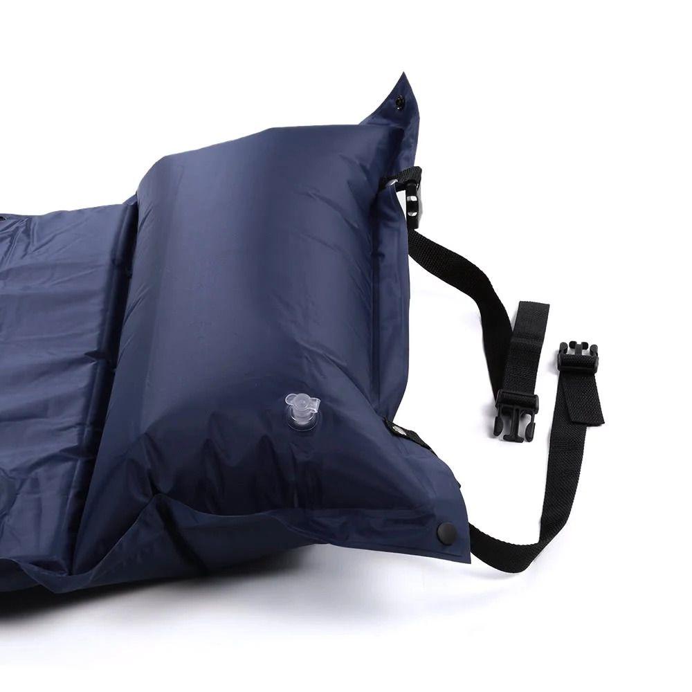 Colchao Inflavel Camping Automatico Enche Sozinho Dormir Azul