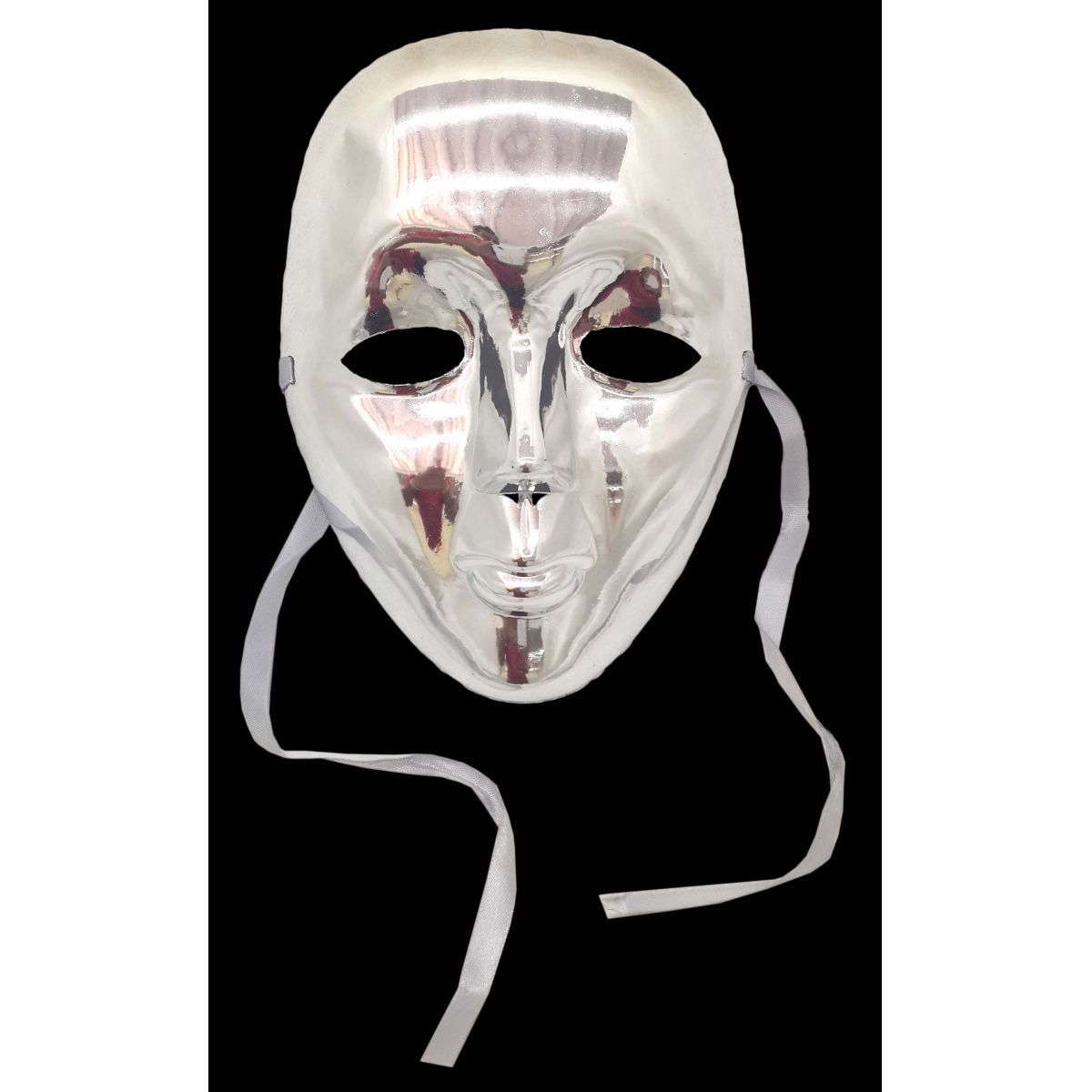 Conjunto 12 Mascaras Para Festa Baile Carnaval Halloween Fantasia Metalizada Prata (BL-0258-4)