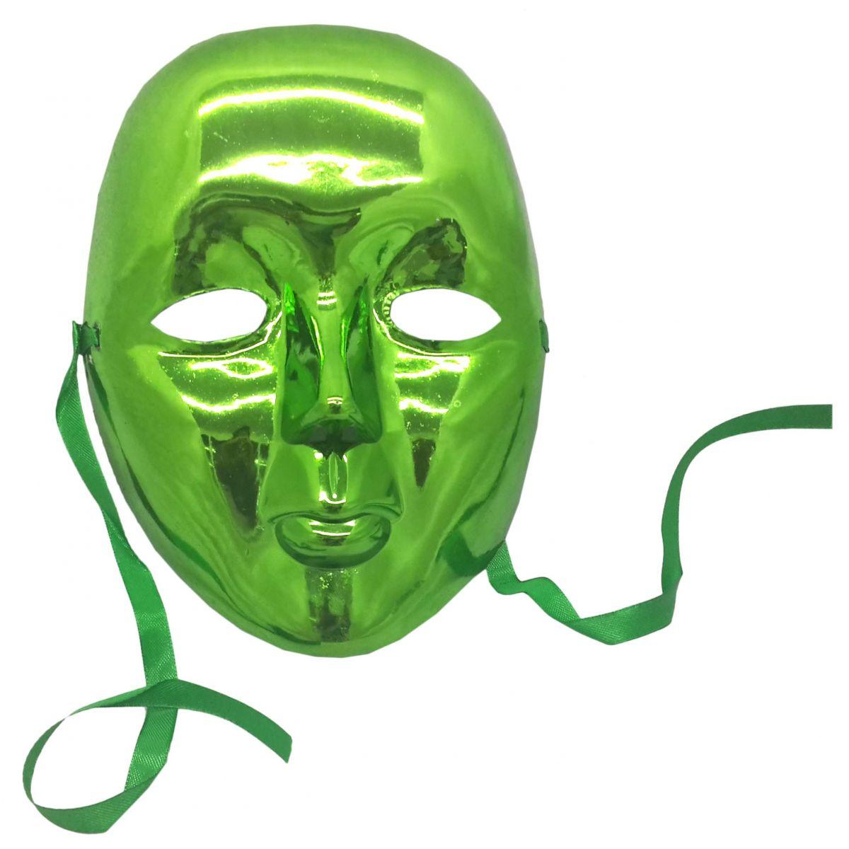 ... Conjunto 2 Mascaras Para Festa Baile Carnaval Halloween Fantasia  Metalizada Verde e Dourada (BL- ... ad17fa7f170