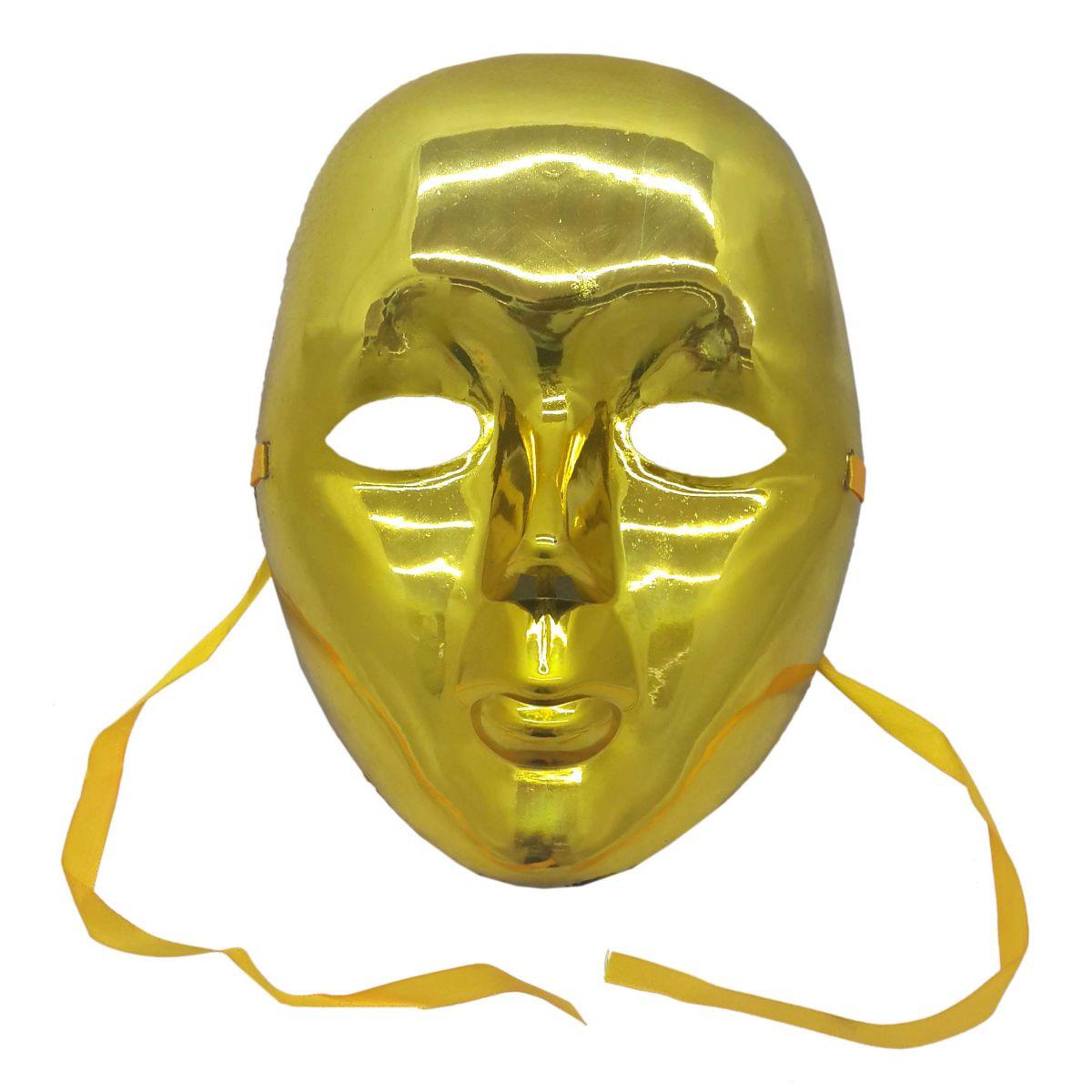 ... Conjunto 2 Mascaras Para Festa Baile Carnaval Halloween Fantasia  Metalizada Verde e Dourada (BL- e5a7477e8be