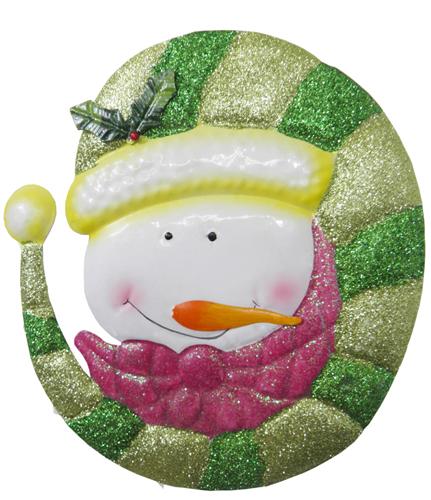 Conjunto Boneco De Neve com Purpurina Enfeite Para Natal 3 Unid (NA-14 BN)