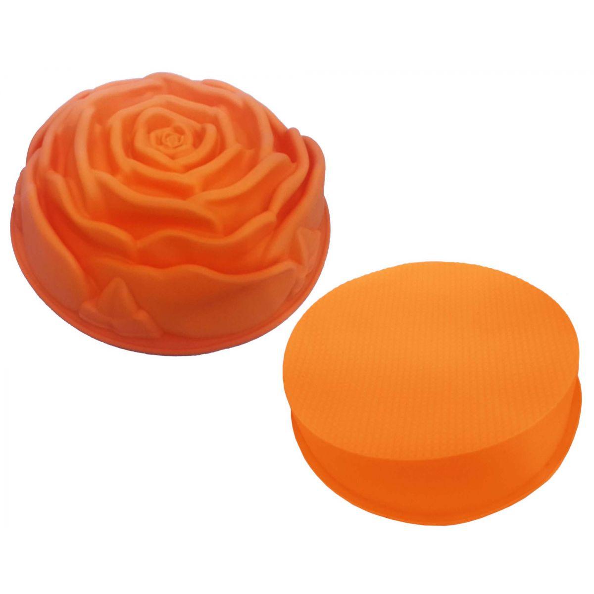 Conjunto de Silicone Para Cozinha 2 Formas Torta Doce Redonda e Flor Abobora (kit2-sili-6-11)