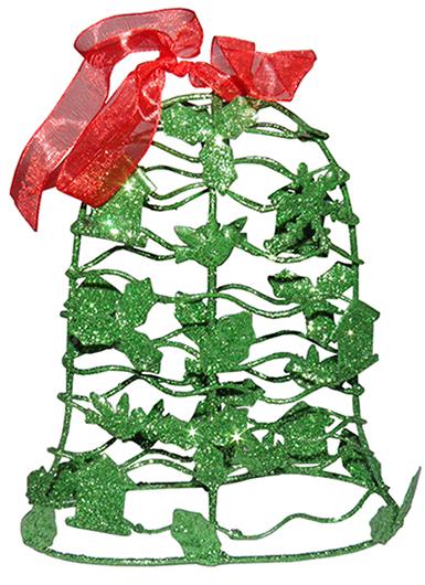 Conjunto Mini Sino de Natal Verde Decoracao Natalino Kit com 3 unid (NA-12 Mini Sino Verde)