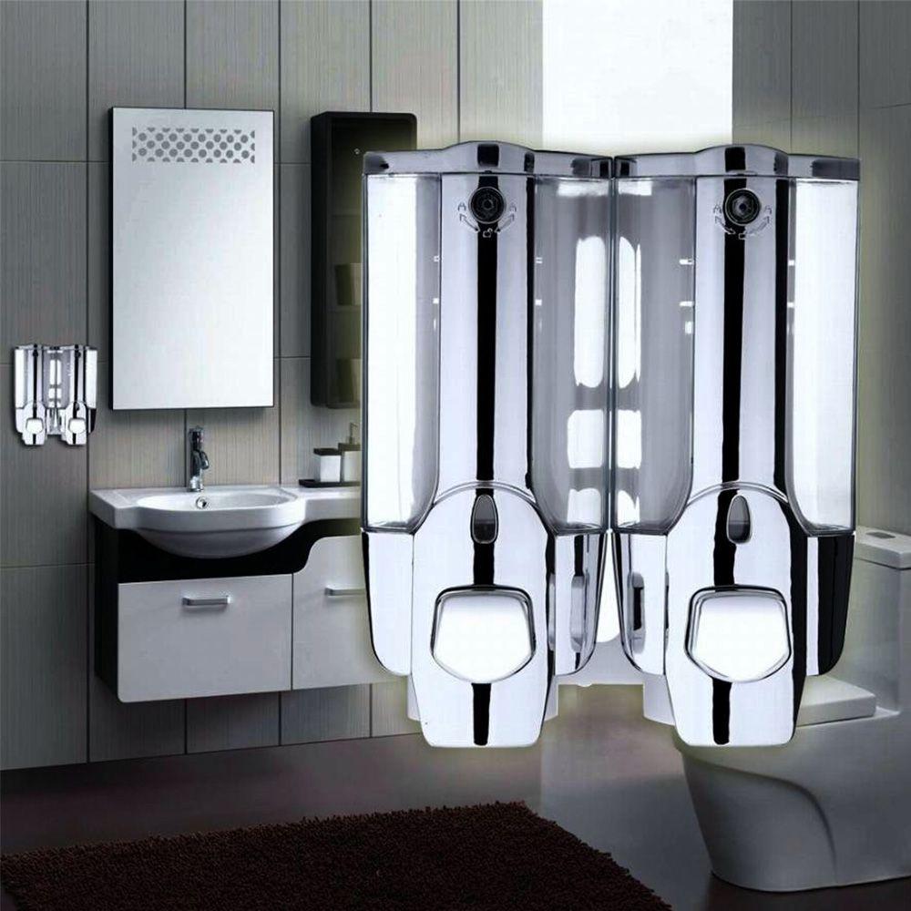 Dispenser Duplo Alcool Gel Shampoo Sabonete Liquido Hotel Shopping