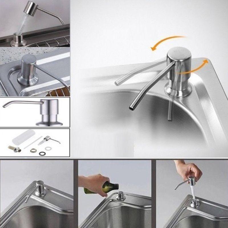 Dispenser Embutir Dosador Liquido sabão Pia  Detergente Sabonete escovado cozinha banheiro
